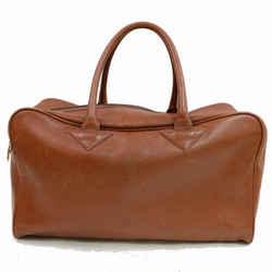 Saint Laurent YSL Brown Leather Luggage Duffle 870874