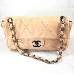 Chanel Leather Stitched Shoulder Bag