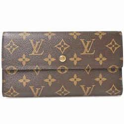 Auth Louis Vuitton Louis Vuitton Monogram International Wallet Brown Pvc
