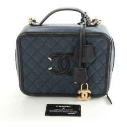 Chanel Caviar Quilted Medium CC Filigree Vanity Case