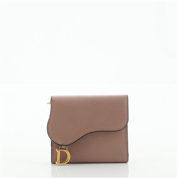 Saddle Flap Wallet Leather Mini