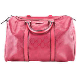 Gucci Bag Boston Canvas GG Monogram Rose Tote