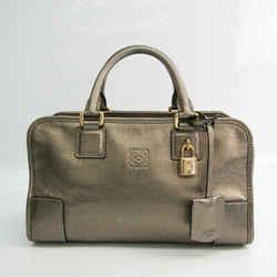 Loewe Amazona 28 Women's Leather Handbag Bronze BF528244