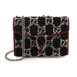 Gucci Dionysus GG Tweed Wallet on Chain with Tiger Spur