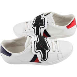 Gucci Ace Sneaker with Removable Patches White/Red/Blue