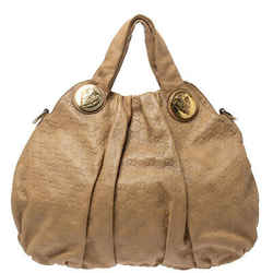 Gucci Beige Guccissima Leather Large Hysteria Hobo