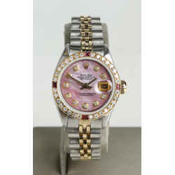 Rolex 26mm DateJust Diamond Dial and Bezel Pink MOP  Ref: 6917