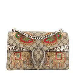 Gucci Gg Supreme Canvas Dionysus Embroidered Shoulder Bag