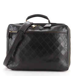 Vintage Diamond Stitch Weekender Quilted Leather Large