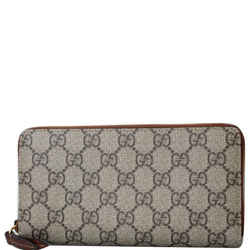 GUCCI GG Supreme Zip Around Wallet Beige 410102