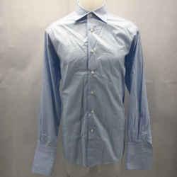 Ermenegildo Zegna Blue Men's Button Down Long Sleeve Large