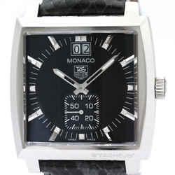Polished TAG HEUER Monaco Diamond Steel Quartz Unisex Watch WAW1310 BF501390