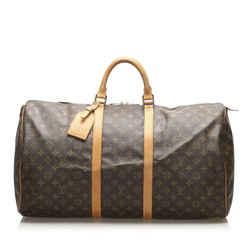 Brown Louis Vuitton Monogram Keepall 55 Bag