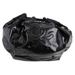 Chanel Plain Hobo Bag Black Leather Authenticity Guaranteed