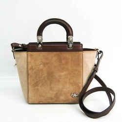 Givenchy HDG Women's Leather,Suede Handbag,Shoulder Bag Beige,Cream,Dar BF527272