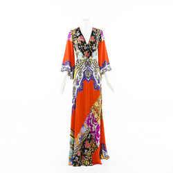 Etro 2019 Somerset Printed Silk Maxi Dress SZ 4