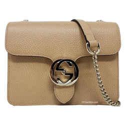 Gucci Interlocking Gg Leather Crossbody Shoulder Bag