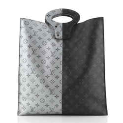 North South Tote Monogram Eclipse Split Canvas