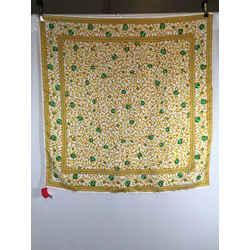 Oscar De La Renta Gold Ivory Green Boroquel Silk Scarf 1537-134-92419