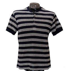 New Versace Collection Open Knit 100% Cotton Striped Polo Shirt Sz M