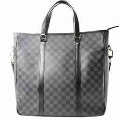 Auth Louis Vuitton Louis Vuitton Graffit Tadao Pm Tote Bag Black Pvc