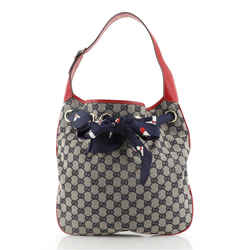 Positano Hobo GG Canvas Small