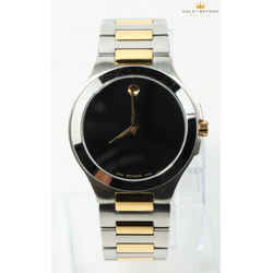 Movado Museum Two Tone Watch 01.1.20.1036