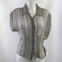Badgley Mischka Grey Sheer Stripe 6