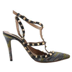 Valentino 'camo Rockstud' Crystallized T-strap Pumps