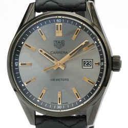 Never Used TAG HEUER Carrera Steel Quartz Mid Size Watch WAR1113 BF516583