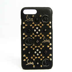 Christian Louboutin Leather Phone Skin For IPhone 7 Plus Black Studs BF524470