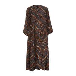 Isabel Marant Tizy Printed Silk Casual Maxi Dress Size: 4 (S) Length: Long