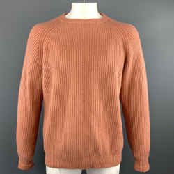 Tse Size M Coral Ribbed Cashmere Crew-neck Sweater
