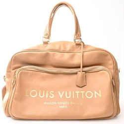 Auth Louis Vuitton Louis Vuitton Panam Jet Rug Flight Bag Handbag Beige Leather