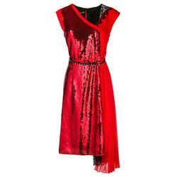 Marc Jacobs Red / Black Sequined Embellished Dress