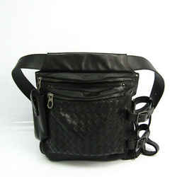Bottega Veneta Intrecciato 121604 Unisex Leather Fanny Pack,Shoulder Ba BF524443