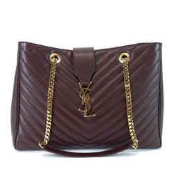 Classic Monogram Matelasse Chevron Leather Shopper Bag