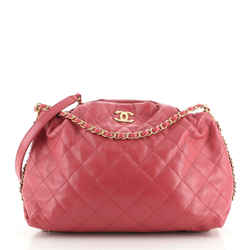 Coco Shelter Bowling Bag Quilted Shiny Lambskin Medium