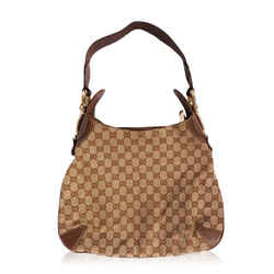 Gucci Gg Creole Canvas Leather Hobo Bag