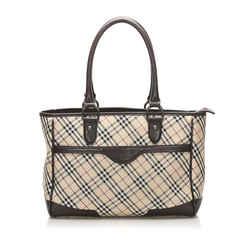 Beige Burberry Nova Check Canvas Handbag Bag