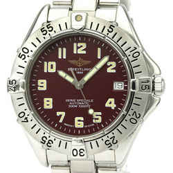 Polished BREITLING Colt Steel Automatic Mens Watch A17035 BF531433