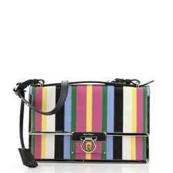 Aileen Shoulder Bag Striped Leather Medium