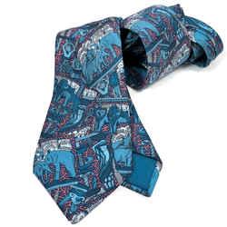 Hermes Silk Necktie 7374 PA Blue Annie Faivre Design