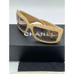 Chanel Oversized Mother of Pearl CC Logo Sunglasses 6.5L x 2.5H