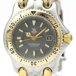 Polished TAG HEUER Sel 200M Gold Plated Steel Ladies Watch WG1320 BF514671