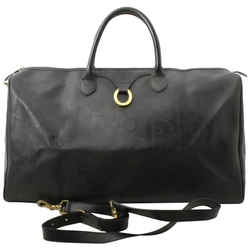 Dior Large Black Monogram Trotter Boston Duffle with Strap  861917