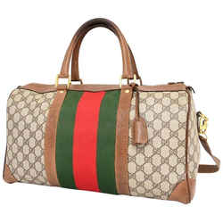 Gucci Monogram Sherry Web Boston Joy Duffle with Strap 235381