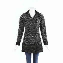 Chanel Tweed Double Breasted Coat SZ 38