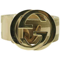 Gucci Khaki Web Interlocking GG Belt 738ggs324
