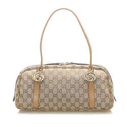 Brown Gucci Interlocking G Shoulder Bag